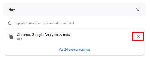 Actividad de Google