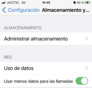 Administrar almacenamiento de whatsapp en smartphone