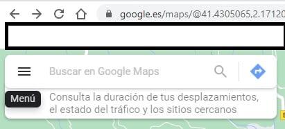 Como abrir el menú en Google Maps