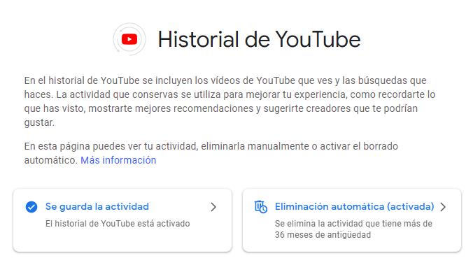 Como configurar nuestro historial en Youtube